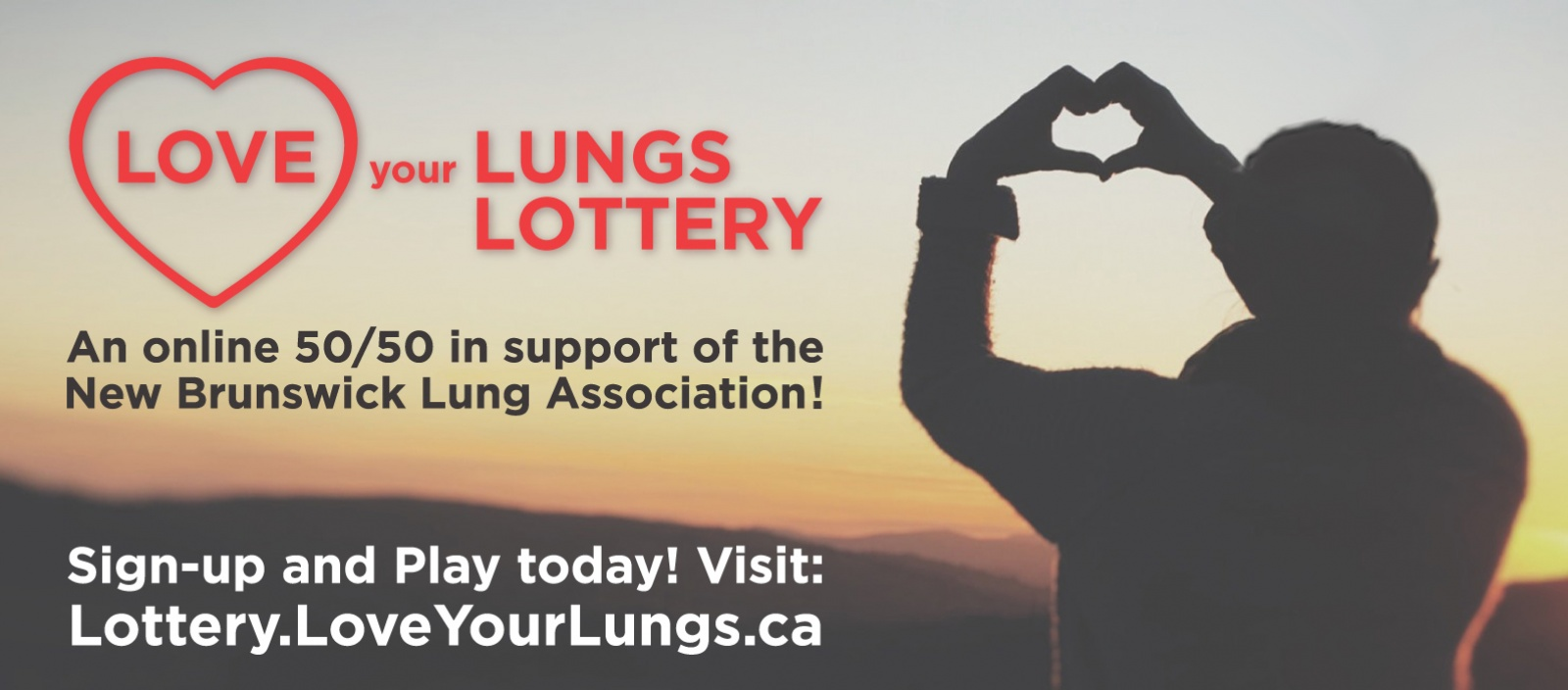 Love Your Lungs online 50 50 fundraiser